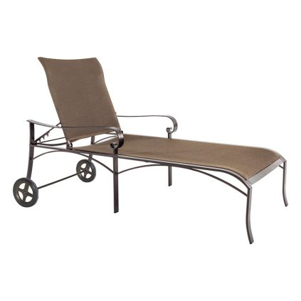 Flex Comfort Chaise Lounge w/Wheels