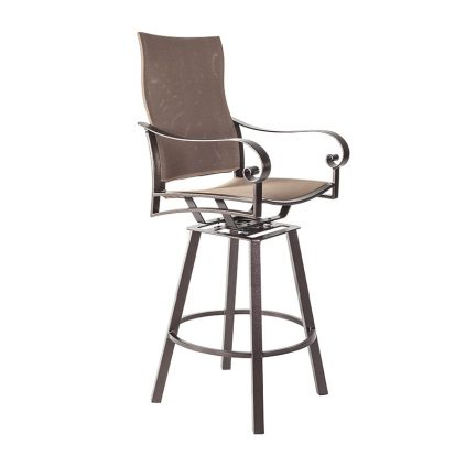 Flex Comfort Swivel Bar Stool with Arms