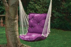 Pink patio swing chair