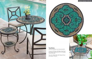 Sardinia Stone & Glass Mosaic Tables