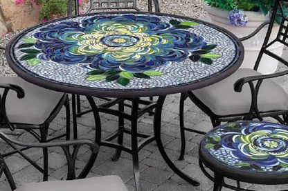stone and glass mosaic in Houston